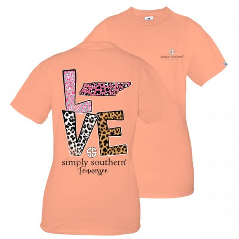 Simply Southern Preppy Love Tennessee Leopard T-Shirt