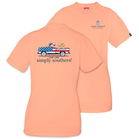 Sale Simply Southern Preppy USA Truck Ivy Collection Unisex T-Shirt
