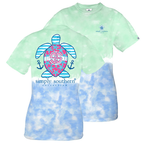 Simply Southern Preppy USA Turtle Tie Dye T-Shirt