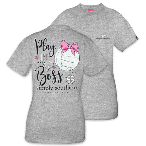 Simply Southern Preppy Play Like A Boss Volleyball T-Shirt
