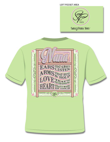 Sassy Frass Heart Made of Gold Grandma Nana Grandkids Girlie Bright T Shirt