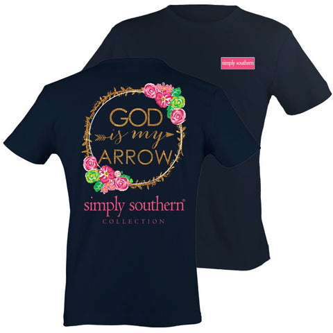 Simply Southern Preppy God Is My Arrow Pattern T-Shirt
