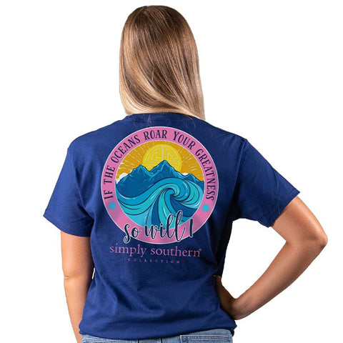 Simply Southern Preppy Oceans Roar Your Greatness T-Shirt
