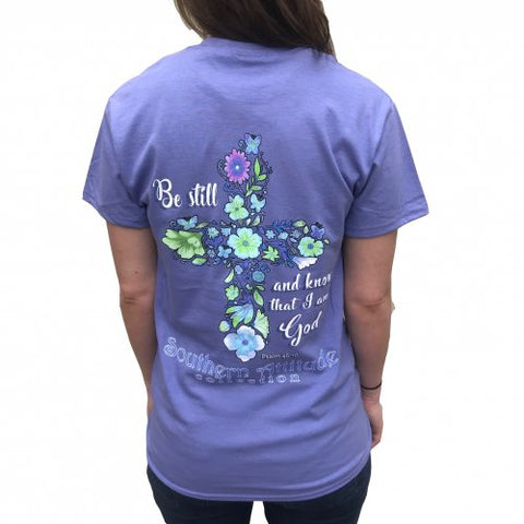 Southern Attitude Flower Cross Faith T-Shirt