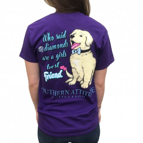 Southern Attitude Preppy Daimonds Are A Girls Best Friend T-Shirt