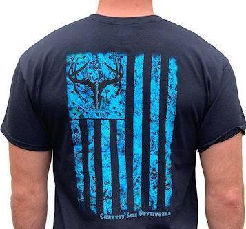 Country Life Outfitters Vintage USA Blue Camo Flag Unisex T-Shirt