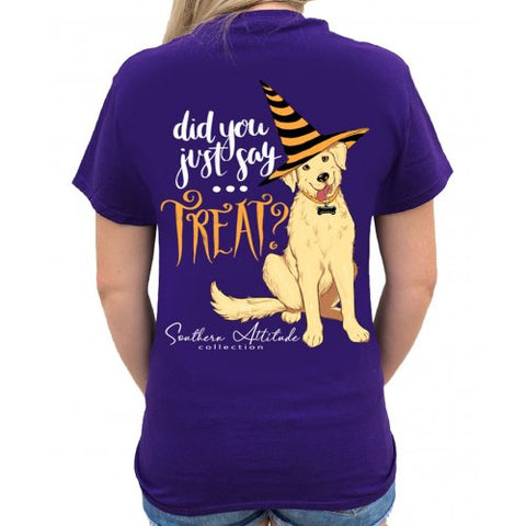 Southern Attitude Preppy Treat Dog Halloween Fall T-Shirt