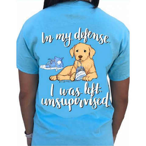 Southern Attitude Preppy Unsupervised Dog T-Shirt