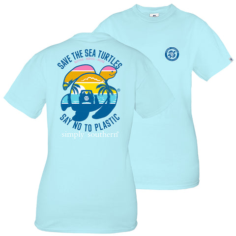 Simply Southern Preppy Save The Turtles Beach Turtle T-Shirt
