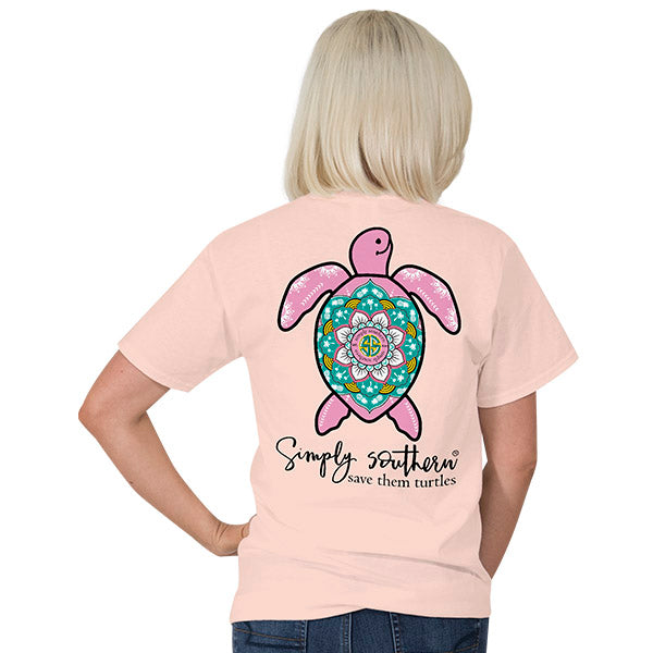 618cc5f57f35 Simply Southern Preppy Boho Rose Save The Turtles Collection T-Shirt ...