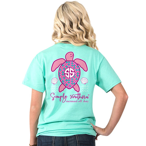 Simply Southern Preppy Mermaid Off Duty Save The Turtles Collection T-Shirt