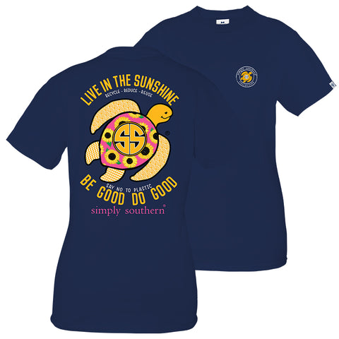 Simply Southern Preppy Save The Turtles Sunflower Turtle T-Shirt
