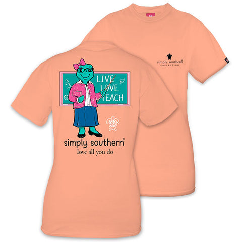 Simply Southern Preppy Teacher Peachy Save The Turtles Collection T-Shirt