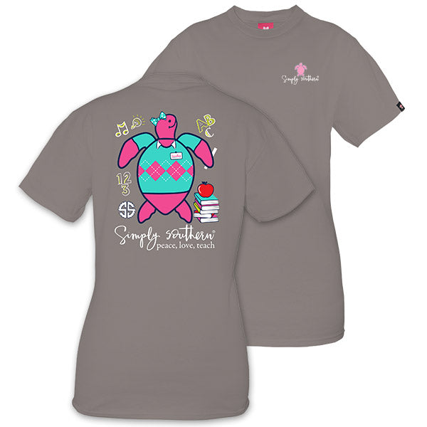 52bc3f1f Simply Southern Preppy Teacher Save The Turtles Collection T-Shirt