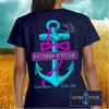 Country Life Outfitters Southern Attitude Anchor Bow Navy Vintage Girlie Bright T Shirt - SimplyCuteTees