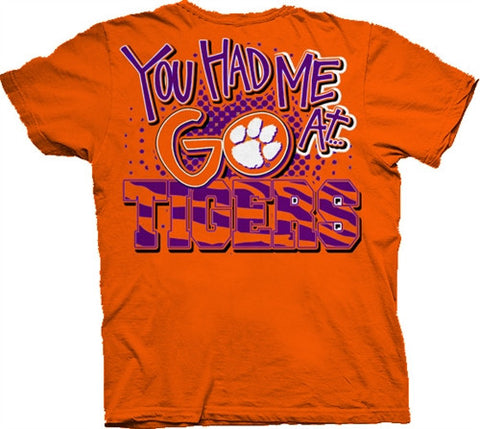 Southern Belle South Carolina Clemson You Had Me At Go Tigers Girlie Bright T Shirt