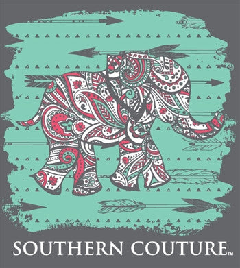 Southern couture paisley elephant arrows girlie bright t - Simply southern backgrounds ...