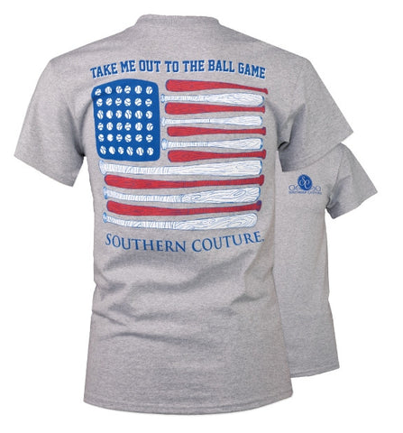 Southern Couture USA Out to the Ballgame T-Shirt - SimplyCuteTees