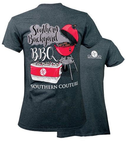Southern Couture Preppy Backyard BBQ T-Shirt