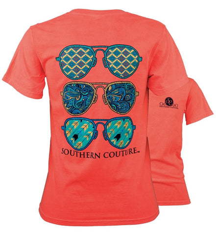 Southern Couture Preppy Wild Aviators Comfort Colors T-Shirt - SimplyCuteTees