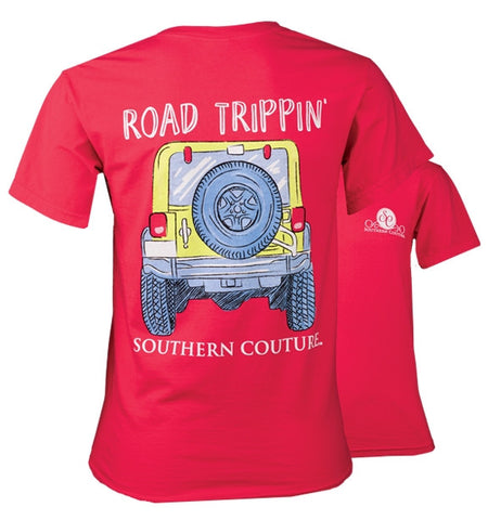 e5d928b56 Southern Couture Road Trippin Jeep Comfort Colors T-Shirt