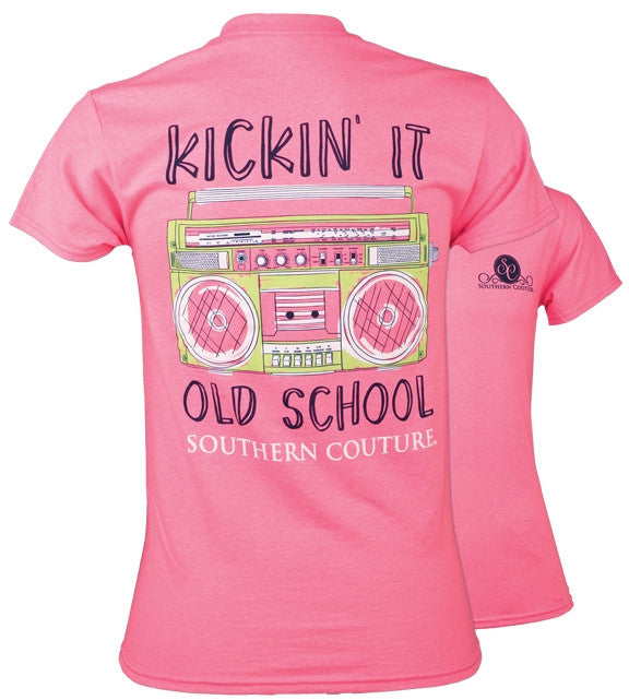 dcb69ab68 Southern Couture Preppy Kickin It Old School T-Shirt | SimplyCuteTees