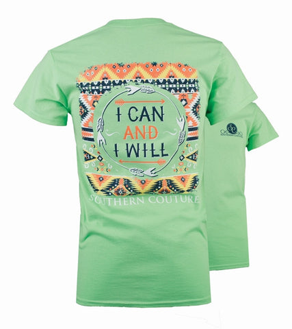 8601afa31 Southern Couture Preppy I Can & I Will Arrows T-Shirt