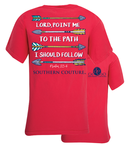 Southern Couture Lord Point Me Arrows Comfort Colors T-Shirt - SimplyCuteTees