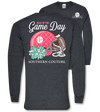 Southern Couture Preppy Gear Up for Game Day Football Long Sleeve T-Shirt - SimplyCuteTees