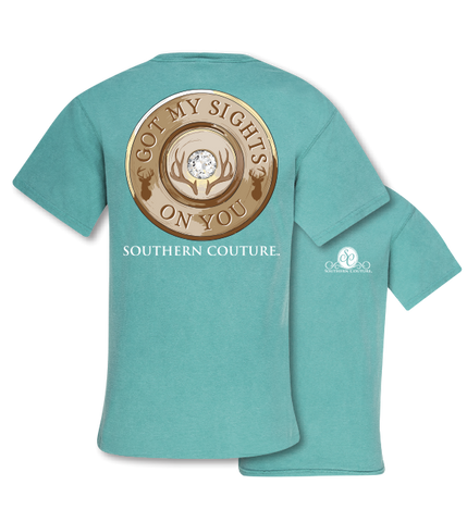 Southern Couture Sights On You Deer Comfort Colors T-Shirt - SimplyCuteTees