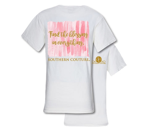 Southern Couture Preppy Find The Blessing Comfort Colors T-Shirt - SimplyCuteTees