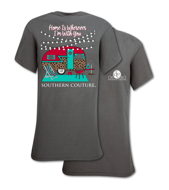 1cfc13973b5b Southern Couture Classic Preppy Leopard Camper T-Shirt | SimplyCuteTees