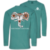Southern Couture Painted Elephant Comfort Colors Long Sleeve T-Shirt