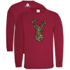 Southern Couture Classic Leopard Deer Long Sleeve T-Shirt