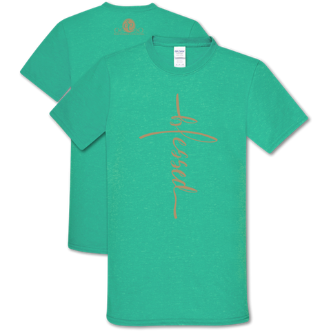Southern Couture Soft Collection Vertical Blessed Seafoam T-Shirt