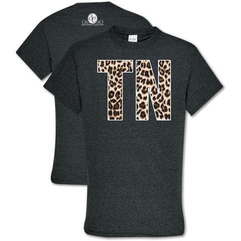 Southern Couture Soft Collection Leopard Tennessee T-Shirt
