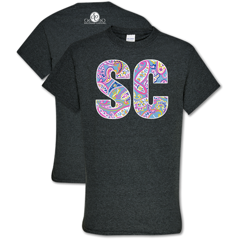 Southern Couture Soft Collection Paisley South Carolina T-Shirt