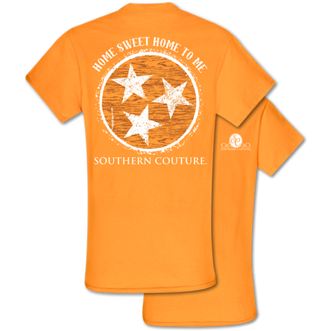 2fa53809a Southern Couture Classic Home Sweet Home Tennessee Orange T-Shirt