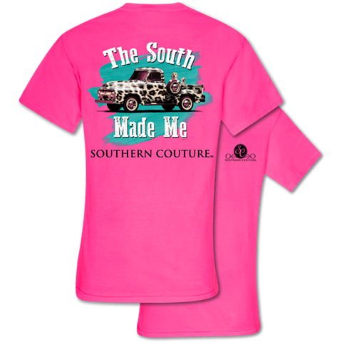 Southern Couture Comfort The South Made Me Truck Comfort Colors T-Shirt