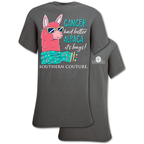 Southern Couture Classic Alpaca Your Bags Cancer T-Shirt