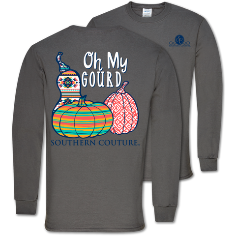 Southern Couture Classic Oh My Gourd Pumpkins Fall Long Sleeve T-Shirt