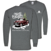 Southern Couture Classic Buffalo Plaid Truck Holiday Long Sleeve T-Shirt