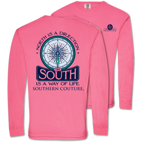Southern Couture South Way of Life Comfort Colors Long Sleeve T-Shirt