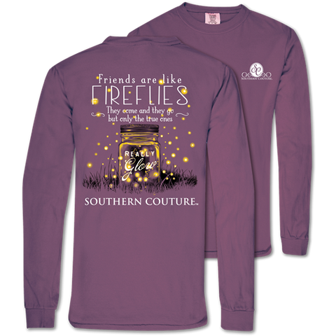 Southern Couture Friends Like FireFlies Mason Comfort Colors Long Sleeve T-Shirt