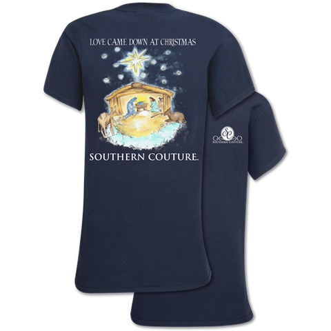 Southern Couture Classic Love Came Down Holiday T-Shirt