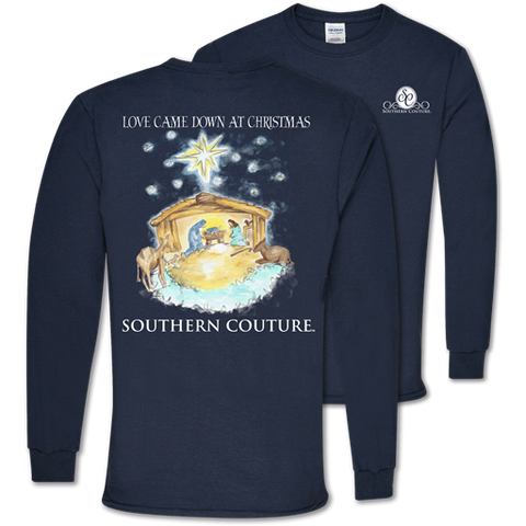 Southern Couture Classic Love Came Down Holiday Long Sleeve T-Shirt