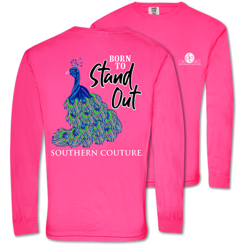 Southern Couture Born To Stand Out Comfort Colors Long Sleeve T-Shirt