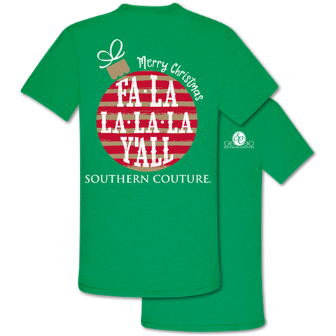Southern Couture Classic Fa La La Y'All Holiday T-Shirt