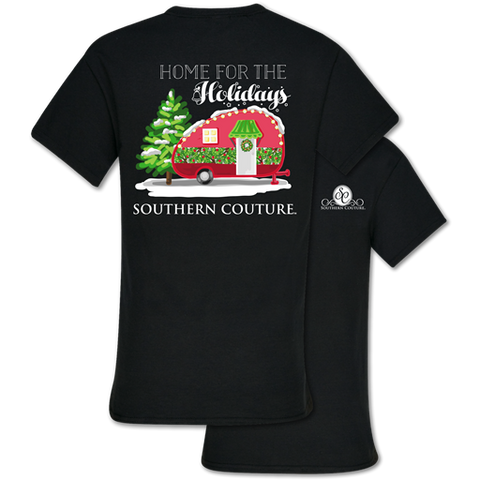 Southern Couture Classic Home For the Holidays Camper T-Shirt