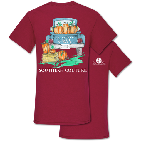 Southern Couture Classic Happy Fall Y'All Pumpkins T-Shirt
